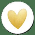 Sluitsticker gouden hart