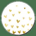 Sluitzegel veel gouden hartjes