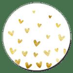 Goldene Herzchen