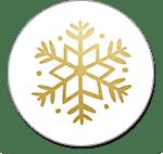 Weiß-goldene Schneeflocke
