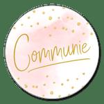 Communie roze waterverf