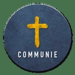 Communie zegel met kruisje