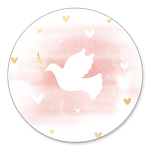 Taube rosa Aquarell