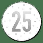 25 Silber