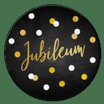 Jubileum confetti zwart