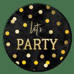 Let's party Konfetti schwarz