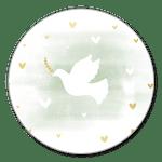 Taube grünes Aquarell