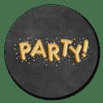 Party gold-schwarz