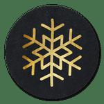 Schwarz-goldene Schneeflocke