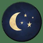 Mond auf Blau