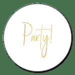 Party weiß-gold