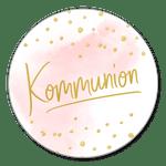 Kommunion rosa Aquarell