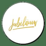 Jubiläum weiß-gold