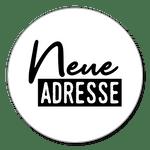 Neue Adresse schwarzweiß