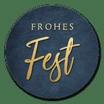 Frohes Fest blau