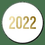 2022 Gold auf Weiß
