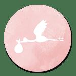 Ooievaar roze