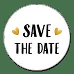 Save the Date kleine Herzen