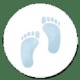 Sluitzegel geboorte blauwe voetjes jongen