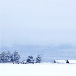 Kerstkaart achtergrond sneeuw en huisje