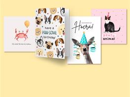 Verjaardagskaarten met dieren