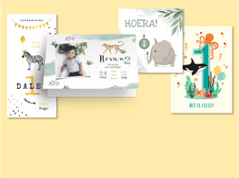 Kinderfeestjes uitnodigingen met dieren