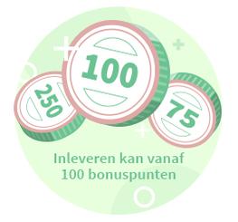 bonuspunten vanaf 100 punten