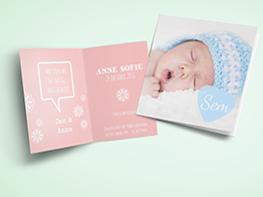 Geboortekaartjes maken