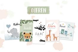 Geboortekaartjes met dieren