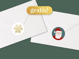 Kerstkaart sluitzegels gratis actie