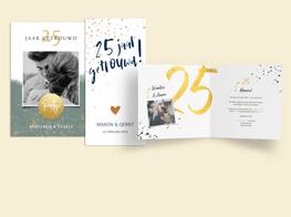 25 jaar jubileumkaarten