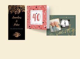 Jubileumkaarten 40 jaar