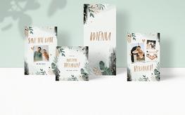 Botanische trouwkaarten