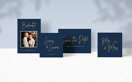 Minimalistische trouwkaarten