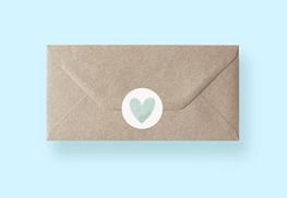 Sluitzegels voor bij je persoonlijke kaart en envelop