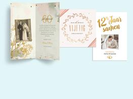 kaarten voor een huwelijksjubileum
