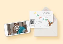Video op geboortekaart