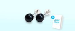 Oorbellen parels zwart