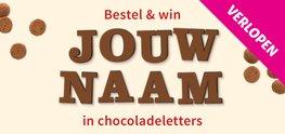 win jouw naam in chocoladeletters