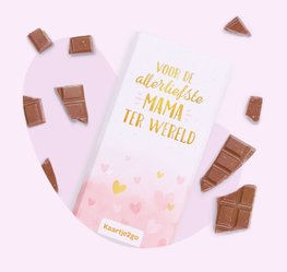 Liefste mama chocoladereep