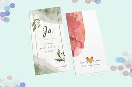 Uitnodiging voor een bruiloft maken