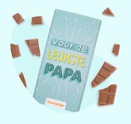 Chocoladereep 'Leukste papa'