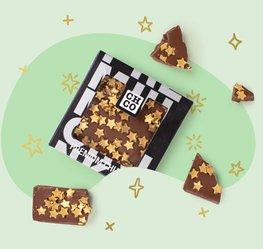 Chocolade chunk kerststerren