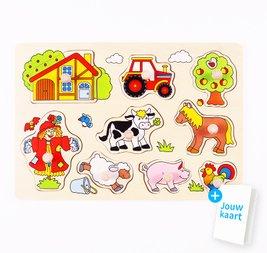 Houten puzzel boerderij 3
