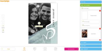 Maak en bestel je jubileumkaart proefdruk