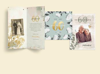 Jubileumkaarten 60 jaar diamenten huwelijk