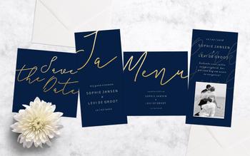 Stijlvolle trouwkaarten sets