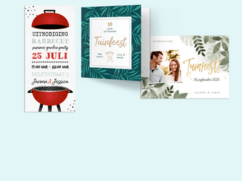 Tuinfeest & BBQ uitnodiging