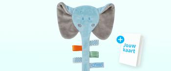 Speendoekje olifant blauw