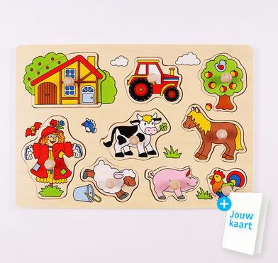 Houten puzzel boerderij 1